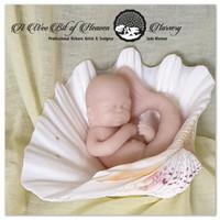 Oceana the mini Mermaid Silicone Full Body Doll Kit Unpainted
