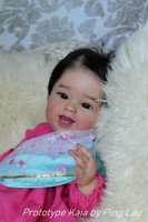 Kaia Our One Tooth Wonder Reborn Vinyl Doll Kit by Ping Lau