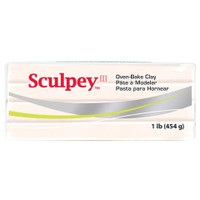 Sculpey III Modeling Clay Flesh Beige 1Pound Package