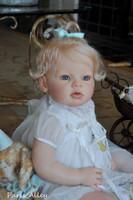 Arianna Awake Reborn Vinyl Toddler Doll Head by Reva Schick - Head Only