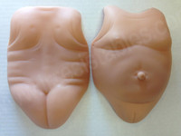 """Tummy & Back Plates - Female For 20"""" Doll Kits by Conny Burke"""