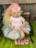 Hallie the Unicorn Hybrid Fantasy Reborn Vinyl Doll Kit by Jade Warner