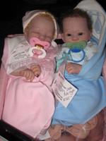 Katheran, Kirsten, Kylie, & Kyrin Set of 4 Reborn Vinyl Doll Kits by Stephanie Sullivan