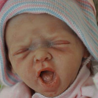 Mini Yawns Reborn Vinyl Doll Kit by Marita Winters