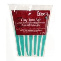 7 Piece Plastic Clay Tool Set