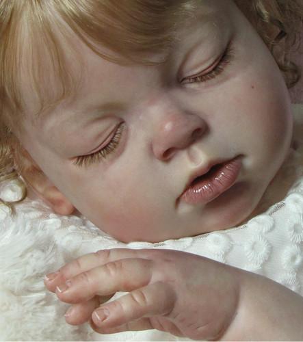 Arianna Asleep Reborn Vinyl Toddler Doll Kit by Reva Schick
