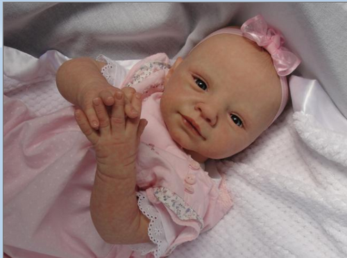 Greta Reborn Vinyl Doll Kit by Adrie Stoete
