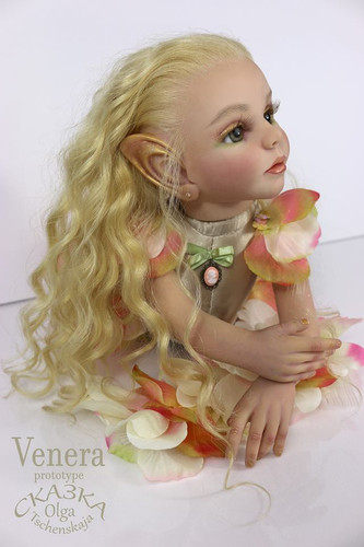 Venera Fantasy Elf Reborn Vinyl Doll Kit by Olga Tschenskaja