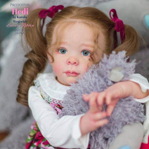 Hedi Standing Toddler Reborn Vinyl Doll Kit by Karola Wegerich