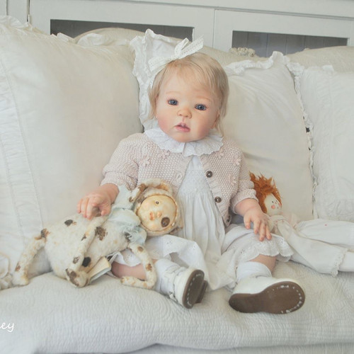 Kathy Reborn Doll Kit With Bent Legs by Regina Swialkowski