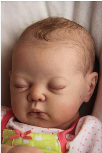 Annie Reborn Vinyl Doll Head by Adrie Stoete  Mix & Match