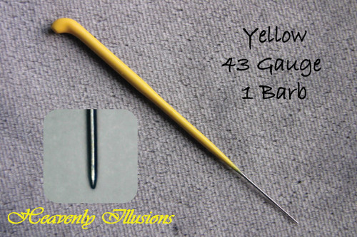 Heavenly Illusions Coated German Rooting Needle Yellow 43 Gauge 1 Barb