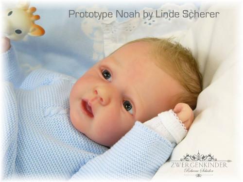 Noah Reborn Vinyl Doll Kit by Linde Scherer