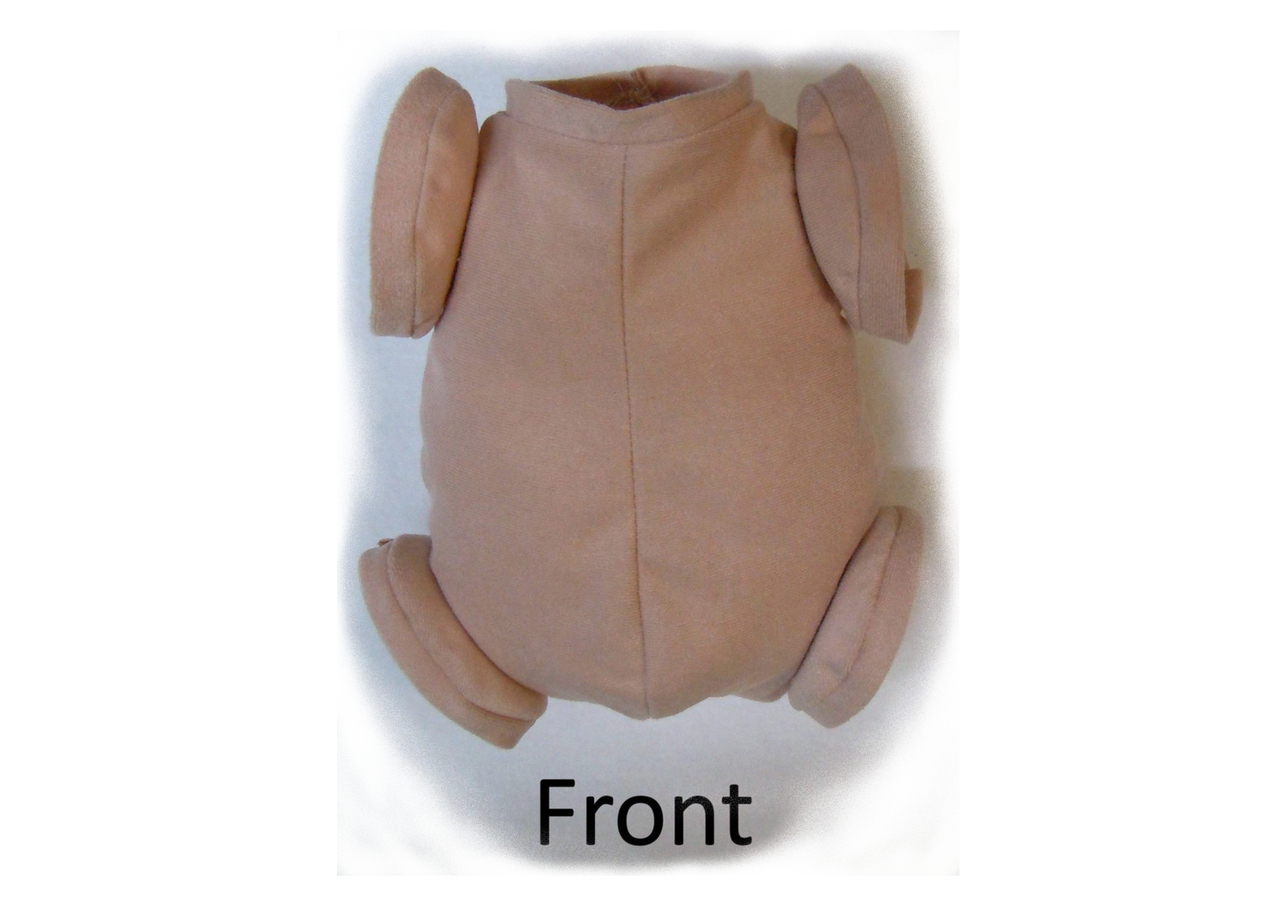 """Doe Suede Body for 13-14/"""" Reborn Doll Kit ~ Full Arms and Full Legs"""
