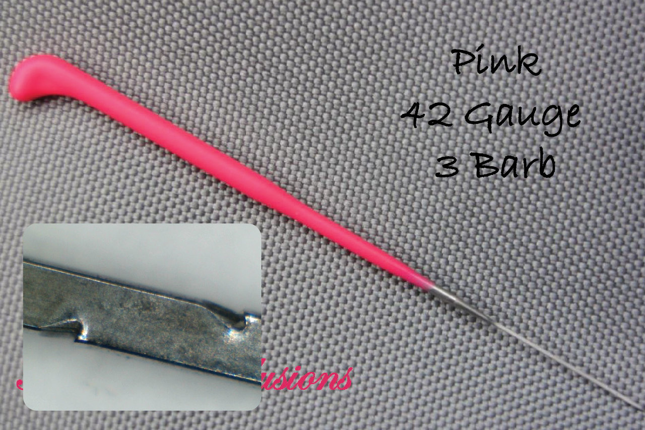 PINK ROOTING TOOL TO ROOT REBORN BABY DOLL MOHAIR TAKE ALL SIZE NEEDLES