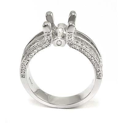 14k Gold Diamond Ring Mounting R885