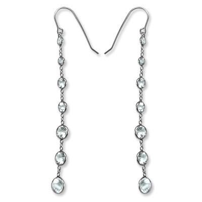 14k Aquamarine Dangling Earrings E499