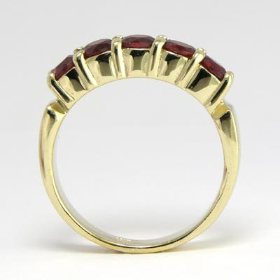 14k Gold Garnet Ring R476
