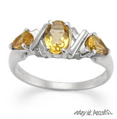 14k Gold Citrine Ring 0.82ct. R404