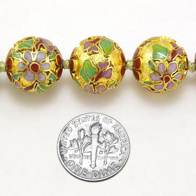 Cloisonne Bead Necklace N228