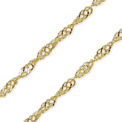 14k Yellow Gold Singapore Chain Necklace N235