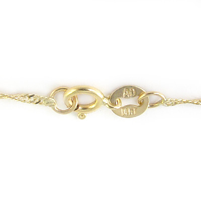 14k Yellow Gold Singapore Chain Necklace N240
