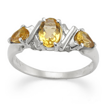 18k Gold Citrine Ring 0.82ct. R1383