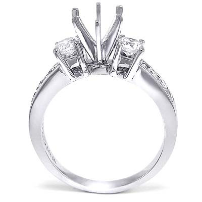 0.82 Carat Diamond Semi-Mount ring 18k R1490