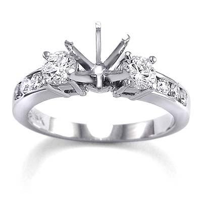 0.82 Carat Diamond Semi-Mount ring 18k R1490