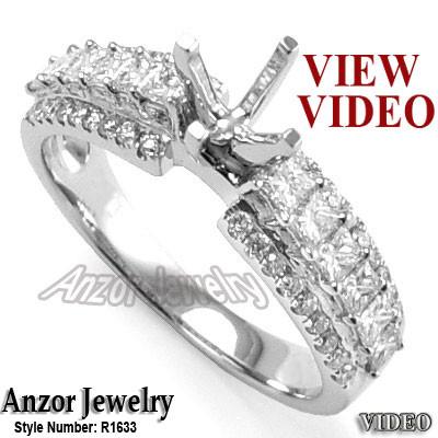 10k White Gold Ring Setting R1633