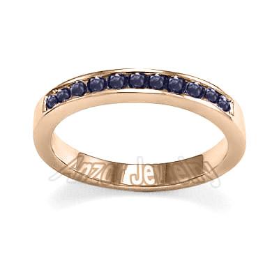 18k Gold Sapphire Wedding Band R1850