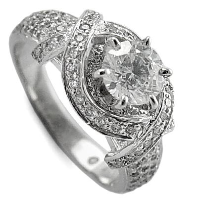 Platinum Diamond Anniversary Ring 1.90CT R1921