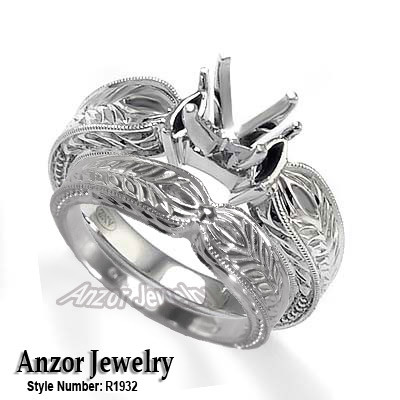Platinum Wedding Band Set R1932