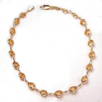 Citrine Bracelet 14k Gold B112