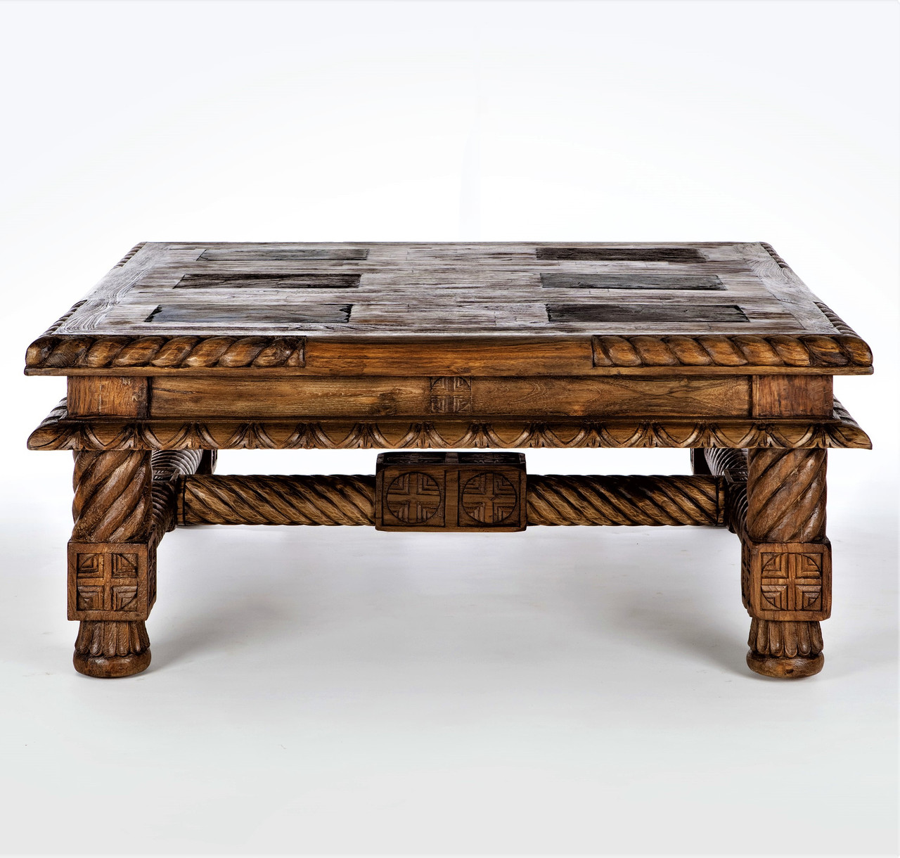 48 Square Inlaid Slate Coffee Table On Sale At Larrabee S Furniture Design Serving Littleton Co