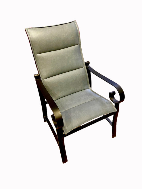 Belden - Padded Sling High Back Dining Chair, Charcoal