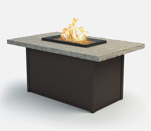 "Shadow Rock - 32x52"" Fire Pit, Boulder Top"