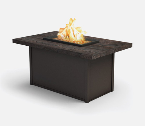 "Shadow Rock - 32x52"" Fire Pit, Sequoia Top"