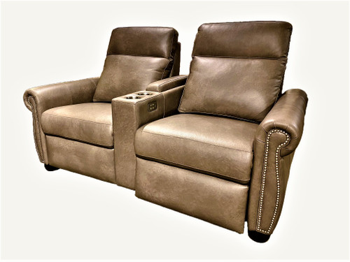 Power Solutions - Power Recliner 2-Seat Loveseat with Console