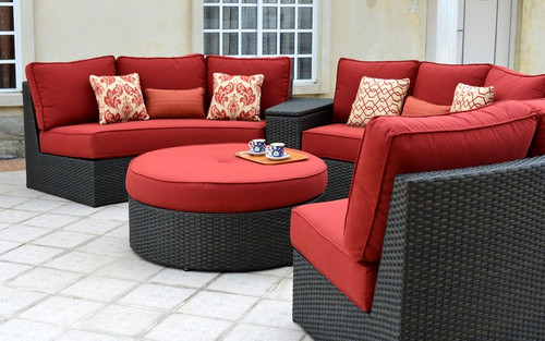 Del Mar - 5-Piece Sectional, Hot Shot Red