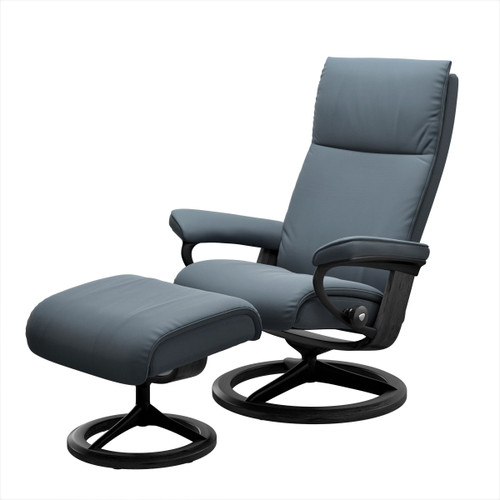 Aura Small Signature Chair with Ottoman