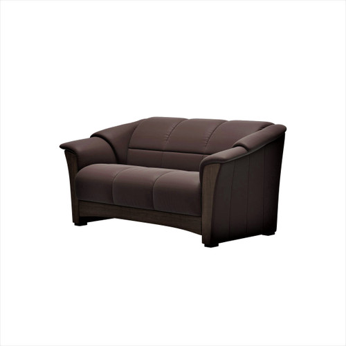 Olso 3-Seat Loveseat with Wood Trim