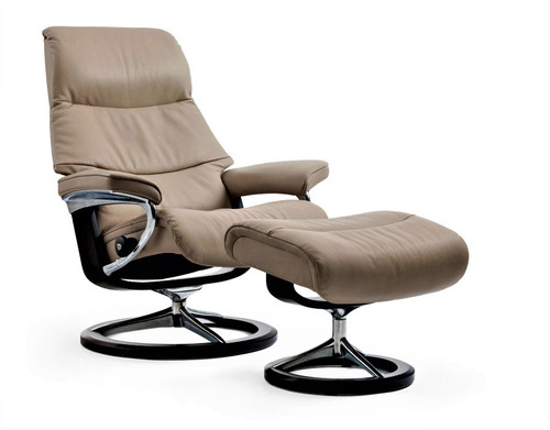 View Small Signature Chair with Ottoman