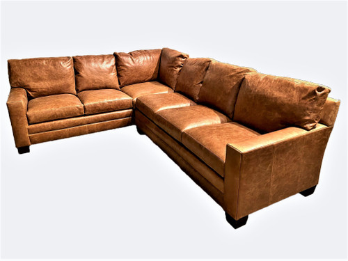 Couture Brayden Leather 2-Piece Sectional