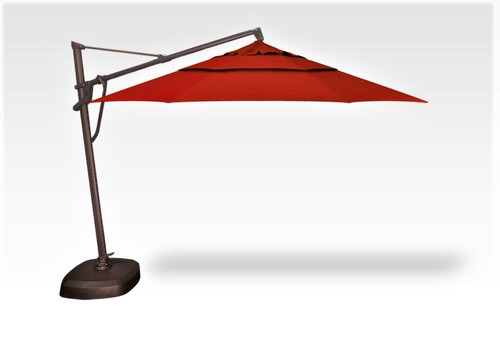 11' Cantilever Umbrella with Base - Jockey Red