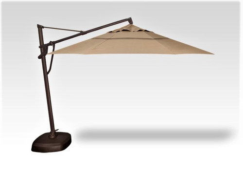 11' Cantilever Umbrella with Base - Heather Beige