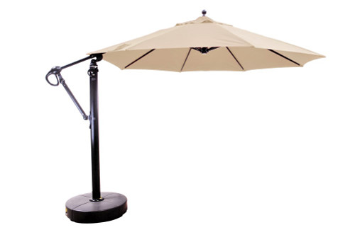 11' Cantilever Umbrella with Base, Flax