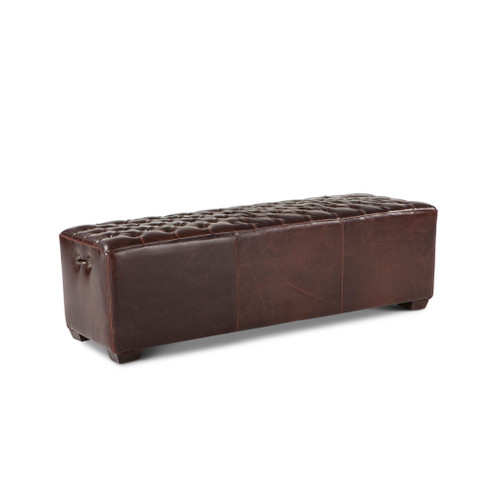 """D'Arcy 58"""" Upholstered Leather Bench"""