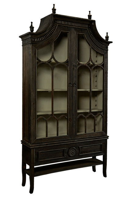 Reims Cathedral Black Arch Cabinet