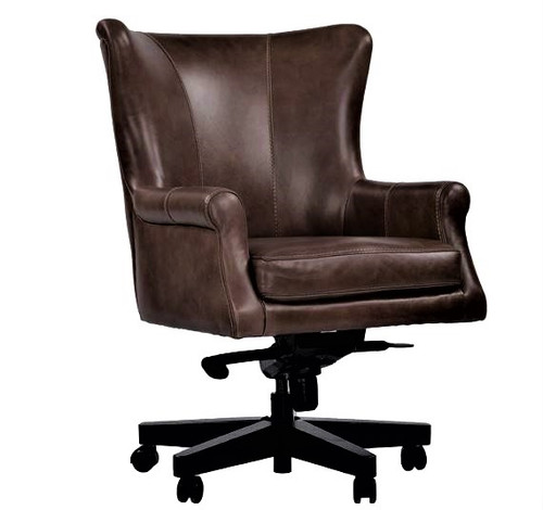 Verona Brown Leather Desk Chair